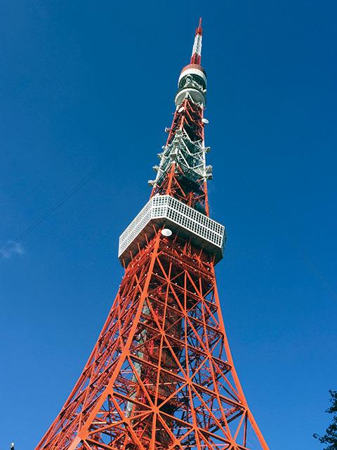 (東京タワーのすぐ近くにお店はあります)