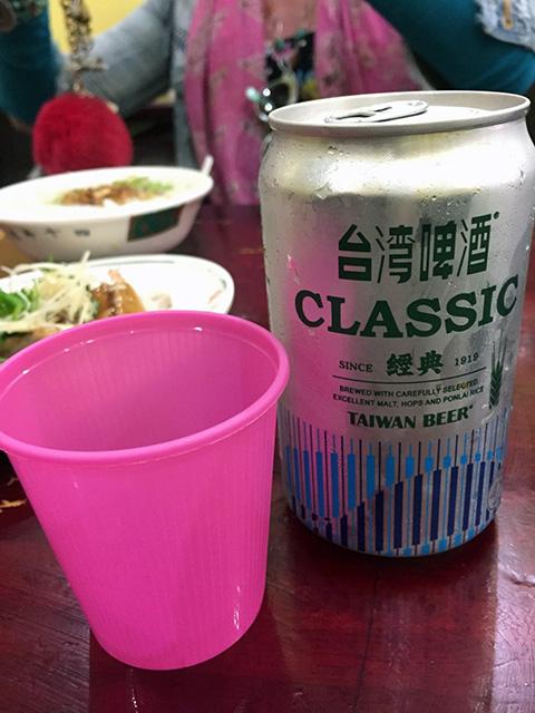 台湾といえば、台湾ビールです。