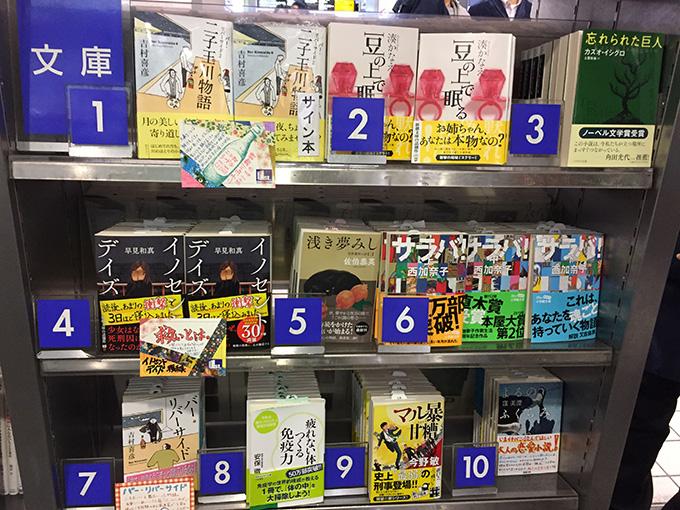 駅ナカにあるブックファーストでは、 『二子玉川物語』が、週間ランキング第1位