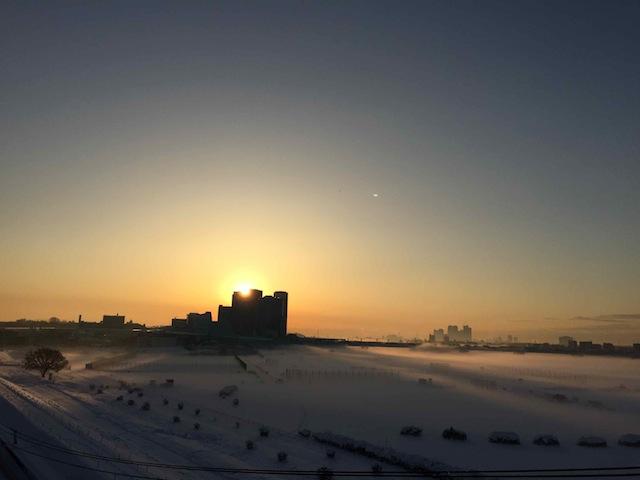 二子雪原。朝