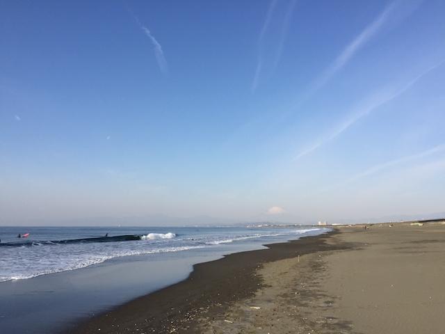 湘南から富士山